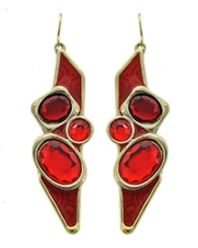 Red Tri Earrings
