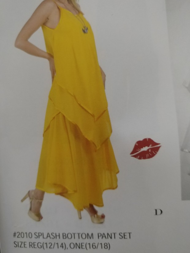Yellow 2010 2pc Pant Set