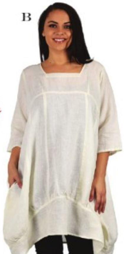Cream Linen Tunic